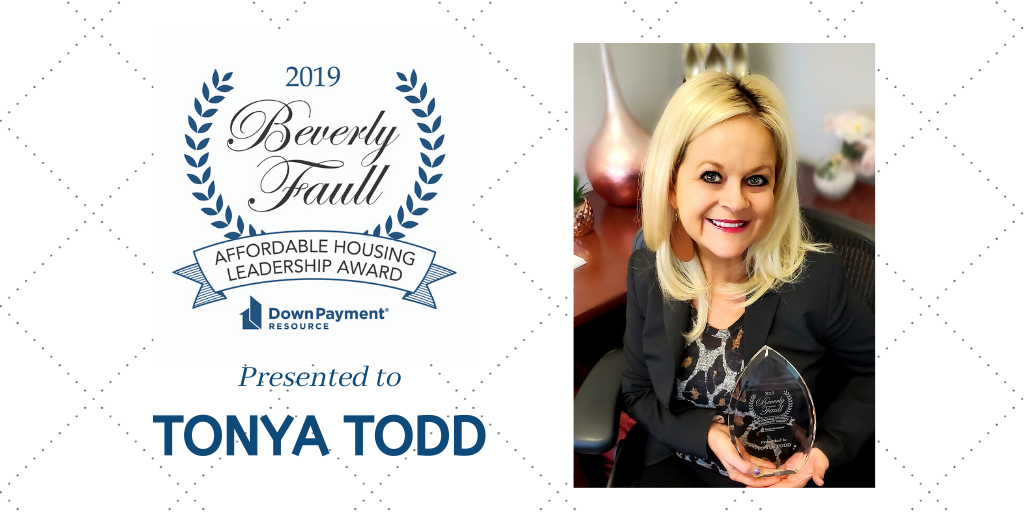 Tonya Todd awarded 2019 Affordable Housing Leadership Award